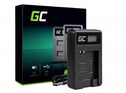 Kamera Akku-Ladegerät CB-2LY Green Cell ® für Canon NB-6L/6LH, PowerShot SX510 HS, SX520 HS, SX530 HS, SX600 HS, SX700 HS