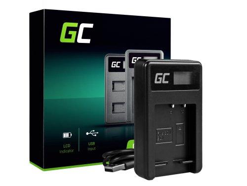 Cargador de batería para cámara BC-CSG Green Cell ® para Sony NP-BG1 / NP-FG1, DSC H10, H20, H50, HX5, HX10, T50, W50, W70