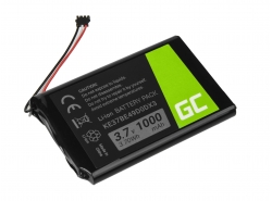 Batería Green Cell ® KE37BE49D0DX3 para GPS Garmin Edge 800 810 Nuvi 1200 1260 2300 2460 2475 2515 2789LMT, Li-Ion 1000mAh 3.7V