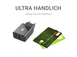 Cargador USB x 2, DC 5V 2.4A