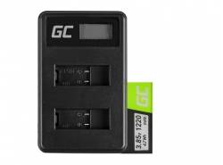 Batería y cargador Green Cell ® AHDBT-501 AABAT-001 para GoPro HD HERO5 HERO6 HERO7 Negro 3.85V 1220mAh