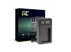 Kamera Akku-Ladegerät DE-A79B Green Cell ® für Panasonic FZ2000, G81, FZ1000, FZ300, G6M, GX8M, G70M, G70KA, GX8EG-K, GX8