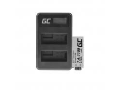 Batería Green Cell ® LP-E8 y cargador LC-E6 para Canon PowerShot G15 G16 G1X G3X SX40 HS SX40HS SX50 HS SX60 HS 7.4V 800mAh