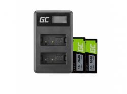 Green Cell ® 2x Akku LP-E17 und Ladegerät LC-E17 für Canon EOS 750D, 760D, 8000D, M3, M5, M6, Rebel T6i, T6s 1000mAh