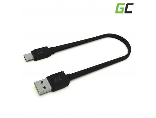 Cable USB GCmatte: USB-C de 25 cm, carga rápida Ultra Charge, QC 3.0