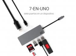 HUB Green Cell Adapter USB-C 7 in 1 (USB-C, USB 3.0, 2xUSB 2.0, HDMI 4K, microSD, SD) mit Power Delivery und Samsung DeX