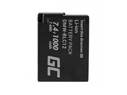 Batería Green Cell ® DMW-BLC12 para Panasonic FZ2000, G81, FZ1000, FZ300, G6M, GX8M, G70M, G70KA, GX8EG-K, GX8 7.4V 1000mAh