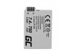 Green Cell ® Akku LP-E8 für Canon EOS Rebel T2i, T3i, T4i, T5i, EOS 600D, 550D, 650D, 700D, Kiss X5, X4, X6 7.4V 750mAh