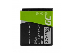 Green Cell ® Battery NP-50 for FujiFilm F100, F200, F300, F500, F600, F700, F80, X10, X20 3.7V 750mAh