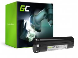 Batería Green Cell (2Ah 9.6V) 191681-2 9000 9001 9002 9033 9600 para Makita 4000 4190D 6000 6095D 6096D 6891D DA391D ML900