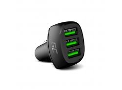 Cargador de coche Green Cell GC PowerRide 54W 3xUSB 18W con tecnología de carga rápida Ultra Charge
