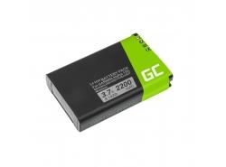 Batería Green Cell ® 361-00053-00 para Garmin Alpha 100 handheld Montana 600 600T 650 Camo 650 650T Monterra,Li-Ion 2200mAh 3.7V