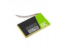Batería Green Cell ® IA2B309C4B32 para GPS Garmin Nuvi 300 310 350 360 360T 370 Navgear Streetmate GP-43,Li-Polymer 1250mAh 3.7V
