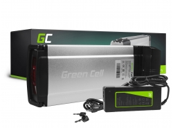 Batería Batería Green Cell Rack trasero 36V 11.6Ah 418Wh para bicicleta eléctrica E-Bike Pedelec