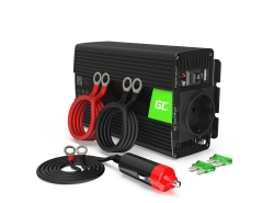 Green Cell ® 300W / 600W Convertidor de voltaje Inversor 24V a 230V Inversor de corriente USB