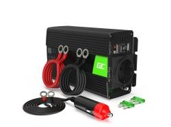 Green Cell ® 500W / 1000W Convertidor de voltaje Inversor 12V a 230V Inversor de corriente USB