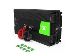 Green Cell ® 1500W / 3000W Inversor convertidor de voltaje sinusoidal puro Inversor 24V 230V