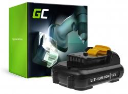 Batería Green Cell (2.5Ah 10.8V) DCB120 DCB124 DCB121 DCB127 para DeWalt DCD710 DCF815 DCT416 DCF813 DCF813N DCD710N DCF815N