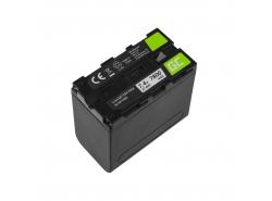 Batería de acumulador Green Cell NP-F960 NP-F970 NP-F975 para Sony 7.4V 7800mAh