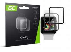 2x GC Clarity Vidrio templado para Apple Watch 4/5 44mm