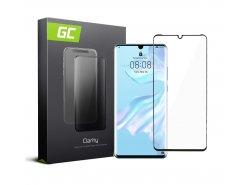 Cristal Templado para Huawei P30 Pro edge glue Película Protectora GC Clarity Vidrio real 9H Protección de pantalla completa