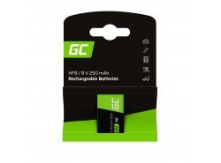 Batería 1x 9V HF9 Ni-MH 8000mAh Green Cell