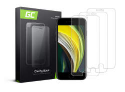 3x Cristal Templado para Apple iPhone SE 2020 / 6 / 6S / 7 / 8 Película Protectora GC Clarity Vidrio real 9H