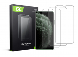 3x Cristal Templado para Apple iPhone X / XS / 11 Pro Película Protectora GC Clarity Vidrio real 9H