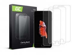 3x Cristal Templado para Apple iPhone 6 Plus / 6S Plus / 7 Plus / 8 Plus Película Protectora GC Clarity