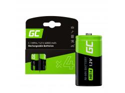 Batería 4x C R14 HR14 Ni-MH 1.2V 4000mAh Green Cell