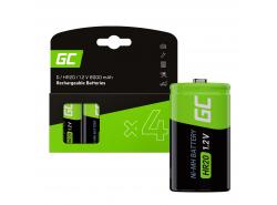 Batterie 4x D R20 HR20 Ni-MH 1.2V 8000mAh Green Cell