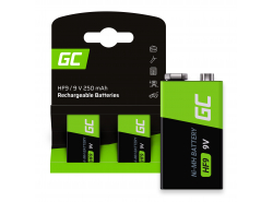 Batería 2x 9V HF9 Ni-MH 8000mAh Green Cell