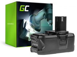 Batería Green Cell (5Ah 18V) ONE+ P108 RB18L13 RB18L15 RB18L20 RB18L25 RB18L50 para RYOBI BCL14181H R18DD3 R18IW3 R18IW3-0