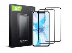 2x Cristal Templado para Apple  iPhone 11 Película Protectora GC Clarity Vidrio real 9H