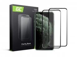 2x Cristal templado GC Clarity para Apple iPhone 11 Pro