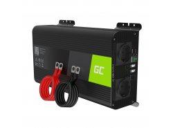 Green Cell Pro 1000W / 2000W Inversor convertidor de voltaje sinusoidal puro Inversor 12V 230V
