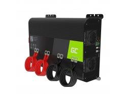 Green Cell Pro 2000W / 4000W Inversor convertidor de voltaje de seno puro Inversor 12V 230V