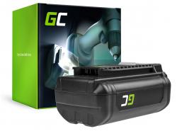 Batería Green Cell (6Ah 36V) 5133002166 BPL3626D2 BPL3650 BPL3650D OP4026 RY36B60A para Ryobi RY40200 RY40403 RY40204 RY40210
