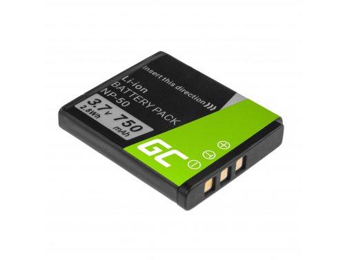 Batería Green Cell ® NP-50 para FujiFilm F100, F200, F300, F500, F600, F700, F80, X10, X20 3.7V 750mAh