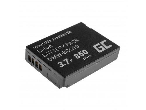 Green Cell ® Akku DMW-BCG10 para Panasonic Lumix DMC-TZ10 DMC-TZ20 DMC-TZ30 DMC-ZS5 DMC-ZS10 DMC-ZX1 DMC-ZX3 3.7V 850mAh