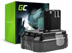 Green Cell® Batería (1.5Ah 14.4V) BCL1415 BCL1425 BCL1430 EBL1430 para Hitachi CH14DL CJ14DL DH14DL DS14DL DV14DL WH14DL WR14DL