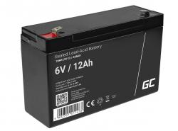 Green Cell® AGM Bateria 6V 12Ah Gel Bateria hermetica sistemas de alarma juguetes eléctricos para niños