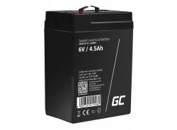 Green Cell® AGM Bateria 6V 4.5Ah Gel Bateria hermetica sistemas de alarma juguetes eléctricos para niños