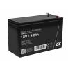 Green Cell® AGM Bateria 12V 9Ah Gel Bateria hermetica UPS reserva de bateria sistemas de UPS USV
