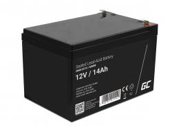 Green Cell® AGM Bateria 12V 14Ah Gel Bateria hermetica sistemas de alarma juguetes eléctricos para niños