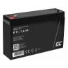 Green Cell® AGM Bateria 6V 7Ah Gel Bateria hermetica sistemas de alarma juguetes eléctricos para niños