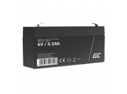 Green Cell® AGM Bateria 6V 3.3Ah Gel Bateria hermetica sistemas de alarma juguetes eléctricos para niños