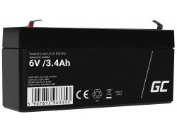 AGM Batería Gel de plomo 6V 3.4Ah Recargable Green Cell para los scooters y un parquímetro