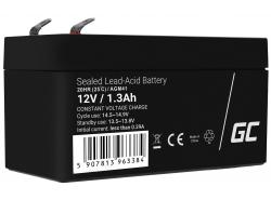 AGM Batería Gel de plomo 12V 1.3Ah Recargable Green Cell para coche eléctrico y scooter