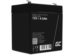 AGM Batería Gel de plomo 12V 4.5Ah Recargable Green Cell para juguetes y linterna